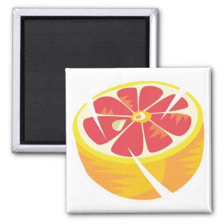 pink grapefruit fridge magnet