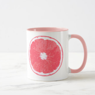 Pink Grapefruit Slice Digital Painting Mug