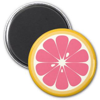 Pink Grapefruit Slice Magnet
