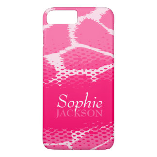 Pink graphic animal print iphone tough case