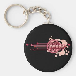 Pink Graphic Circle Texas Keychain Dark