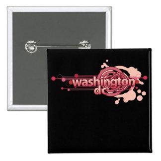 Pink Graphic Circle Washington DC Button Dark