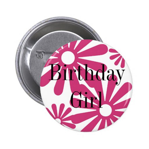 Pink Graphic Daisy Flower Pin
