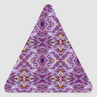 Pink Graphic Mandala Triangle Sticker