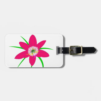 Pink Grass Flower Luggage Tag