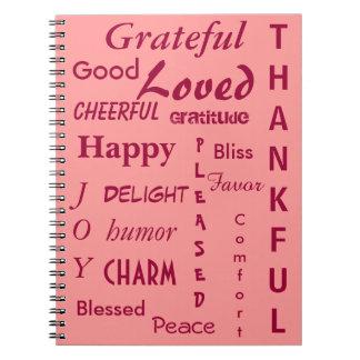 Pink Gratitude Note Books