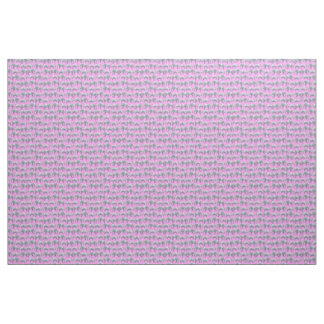 Pink Gray Elephants and Rhinos Watercolor Pattern Fabric