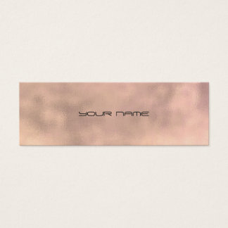 Pink Gray Gold Faux Linen Minimal Texture Urban Mini Business Card