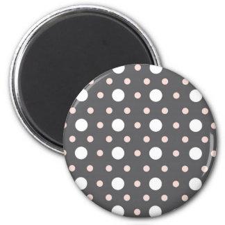 pink & gray polka dots magnet