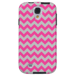 Pink Gray Zigzag Chevron Pattern Girly Galaxy S4 Case