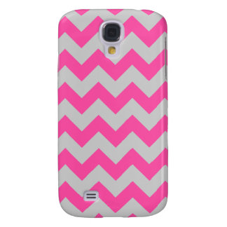 Pink Gray Zigzag Chevron Pattern Girly Galaxy S4 Cover