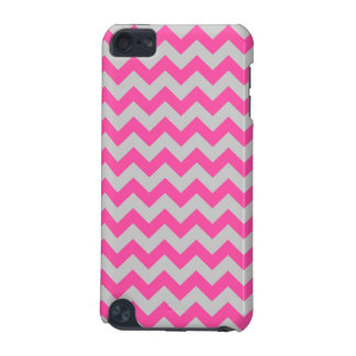 Pink Gray Zigzag Chevron Pattern Girly iPod Touch (5th Generation) Cases