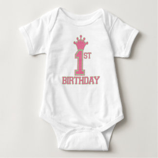 PINK & GREEN 1st Birthday PRINCESS Graphic Tee