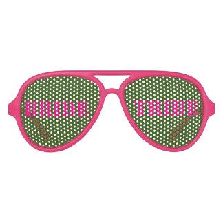 Pink Green Bachelorette Bride Tribe Glasses