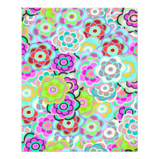 Pink-Green-Blue Flowers Thin Paper Bulk Buy