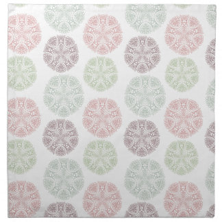 Pink green blue pastel color mandala pattern napkin