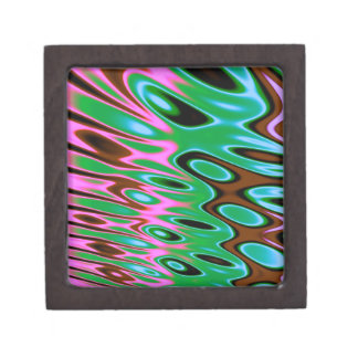 Pink Green Brown Abstract Premium Jewelry Boxes
