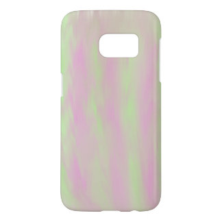 Pink/Green Brush Painted Cell Phone Case