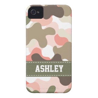 Pink Green Camo Camouflage Blackberry Bold Case