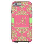 Pink & Green Damask Monogram iPhone 6 case Tough iPhone 6 Case