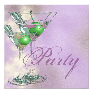 Pink green elegant 21st custom invites