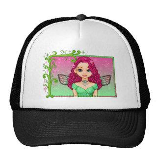 Pink & Green Faery Pixel Art Cap