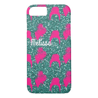 Pink green glitter fashion iPhone 8/7 case
