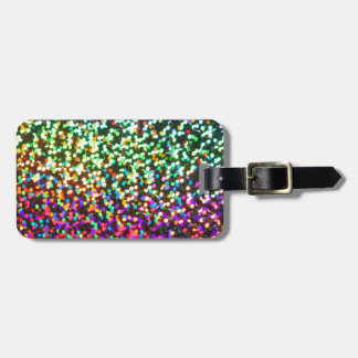Pink Green Glitter sparkle pattern glitter art Luggage Tag
