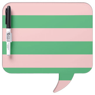 Pink & Green Horizontal Stripe | Any Size | Custom Dry-Erase Boards