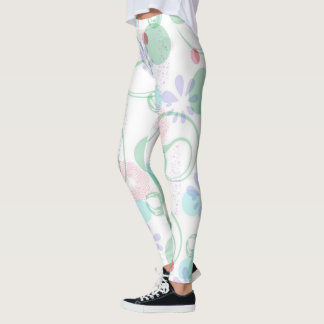 Pink Green Lavendar Leggings Yoga Pants Abstract