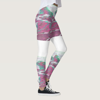 Pink green leggings
