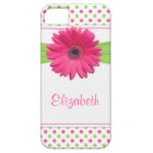 Pink Green Polka Dot Gerbera Daisy iPhone iPhone 5 Case