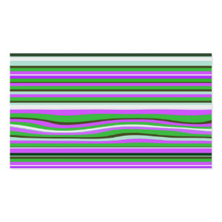 Pink & Green Stripe Pattern Business or Mommy Card Pack Of Standard Business Cards