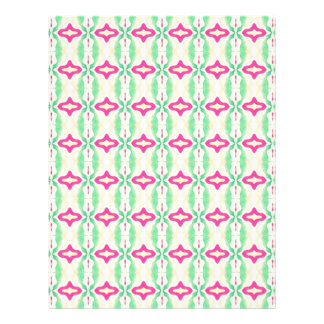 Pink Green Stripes Chains Pattern Flyers