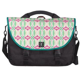 Pink Green Stripes Chains Pattern Laptop Bags