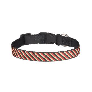 Pink, Grey, and Cream, Striped Dog Collar