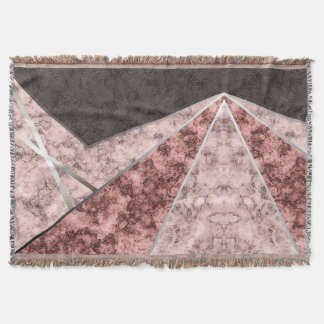Pink grey combo pattern . throw blanket
