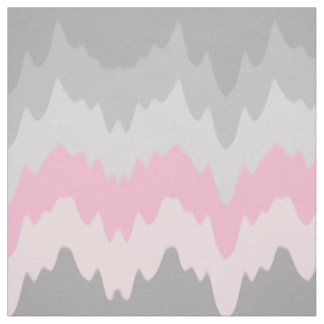 Pink Grey Gray Chevron Ombre Fade Abstract Fabric