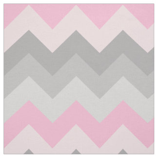 Pink Grey Gray Chevron Ombre Fade Fabric