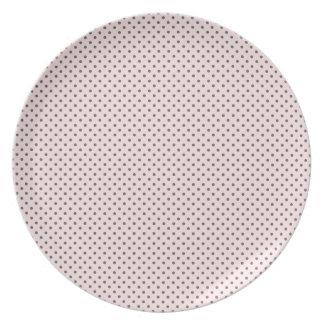 Pink Grey Polka Dots Party Plates