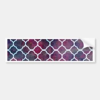 Pink Grunge Moroccan Style Bumper Sticker