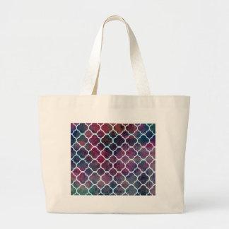 Pink Grunge Moroccan Style Large Tote Bag
