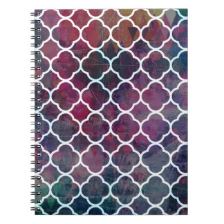 Pink Grunge Moroccan Style Notebook