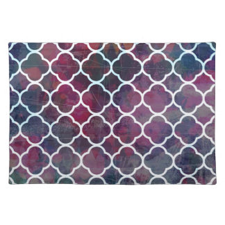 Pink Grunge Moroccan Style Placemat