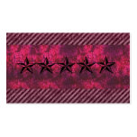Pink grunge rockstar business card