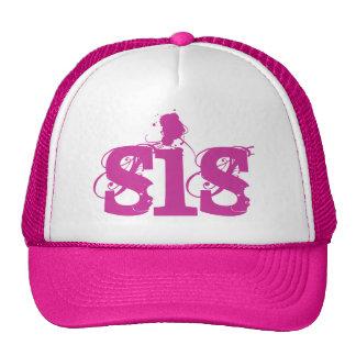 PINK Grunge Text SIS Hat