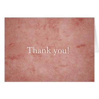 Pink grunge Thank You Card