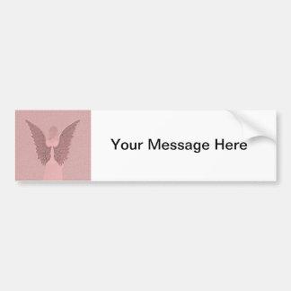 Pink Guardian Angel Bumper Sticker