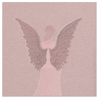 Pink Guardian Angel Fabric