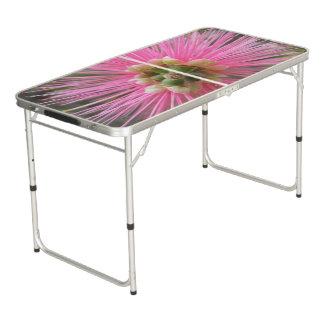 Pink Gum Tree Flower Beer Pong Table